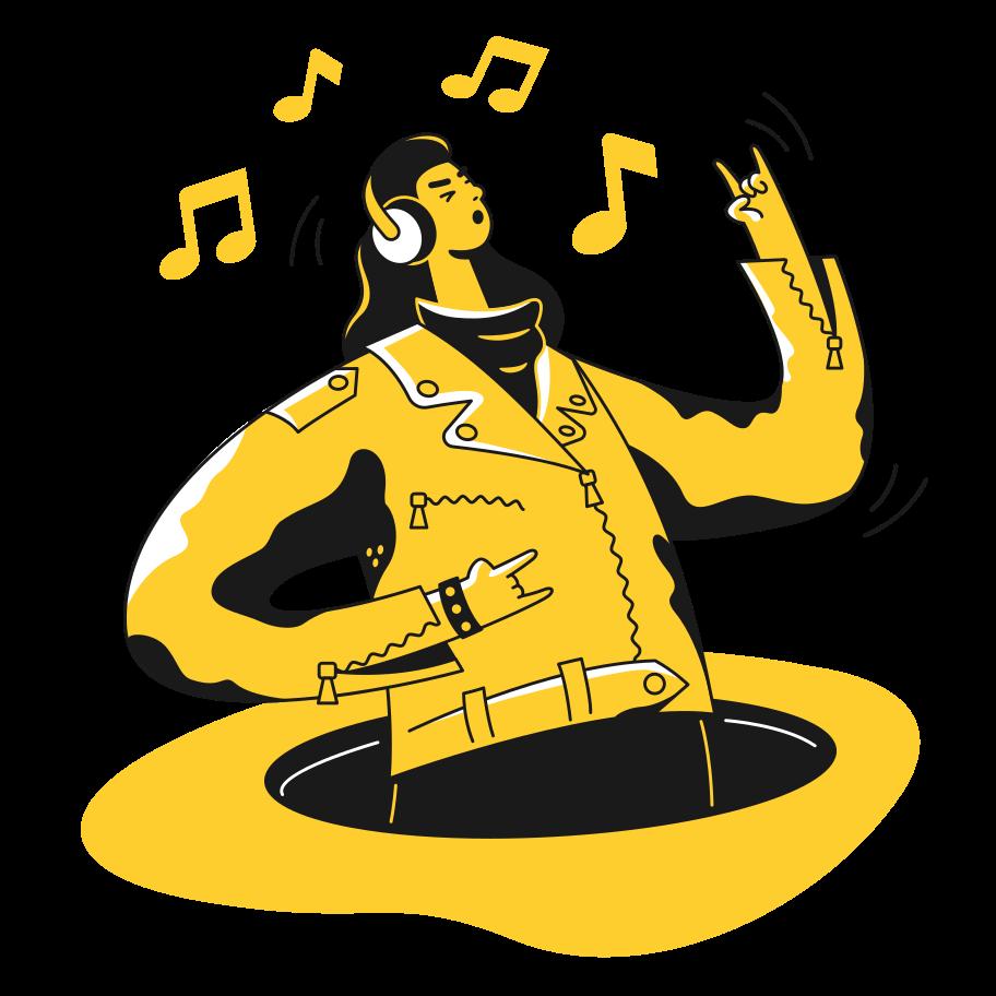 Man in headphones Clipart illustration in PNG, SVG