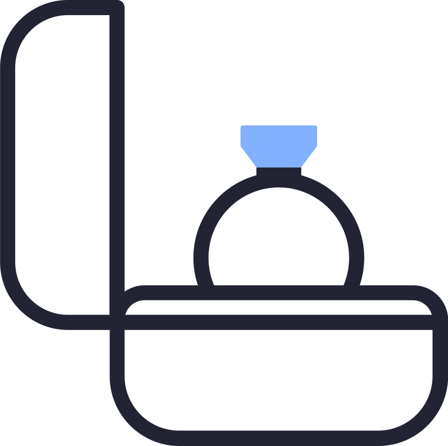 ring box Clipart illustration in PNG, SVG