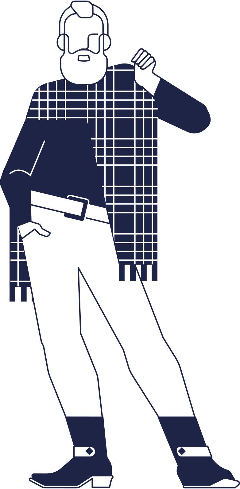 santa hipster Clipart-Grafik als PNG, SVG