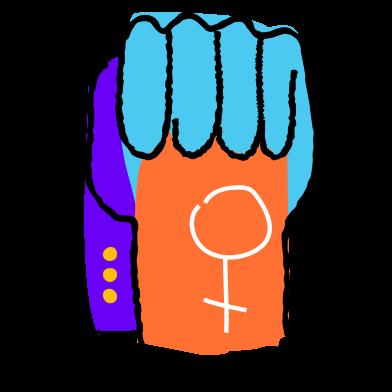Иллюстрация Девушка сила в стиле  в PNG и SVG   Icons8 Иллюстрации