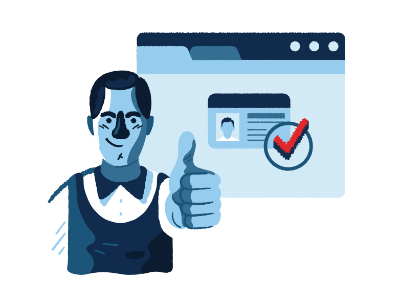 Personal information verification Clipart illustration in PNG, SVG