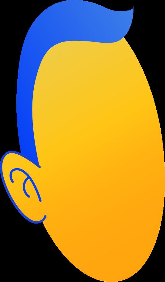 Ilustración de clipart de cabeza en PNG, SVG