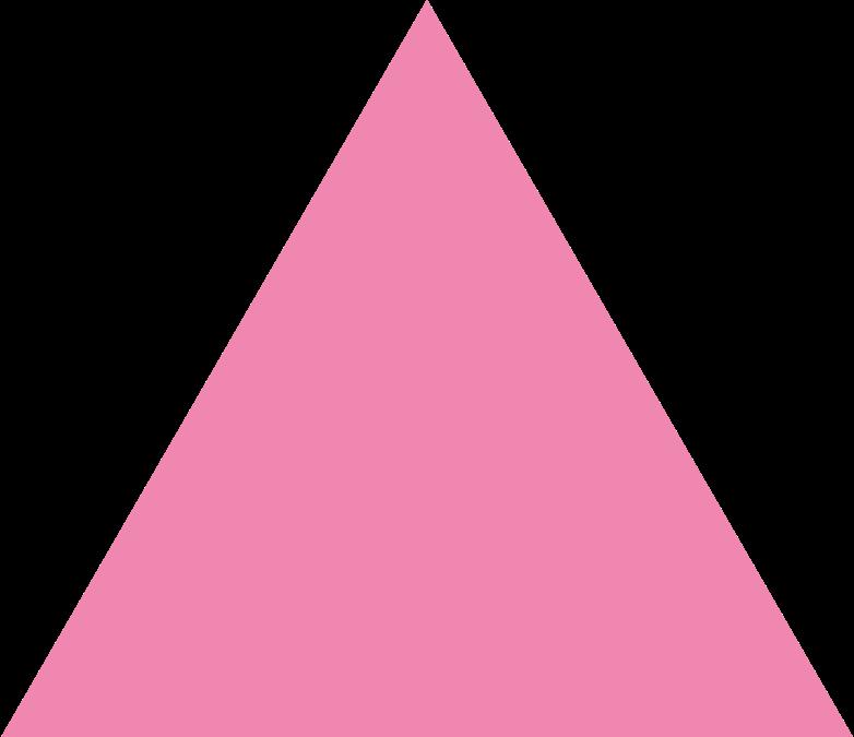 trangle pink Clipart illustration in PNG, SVG