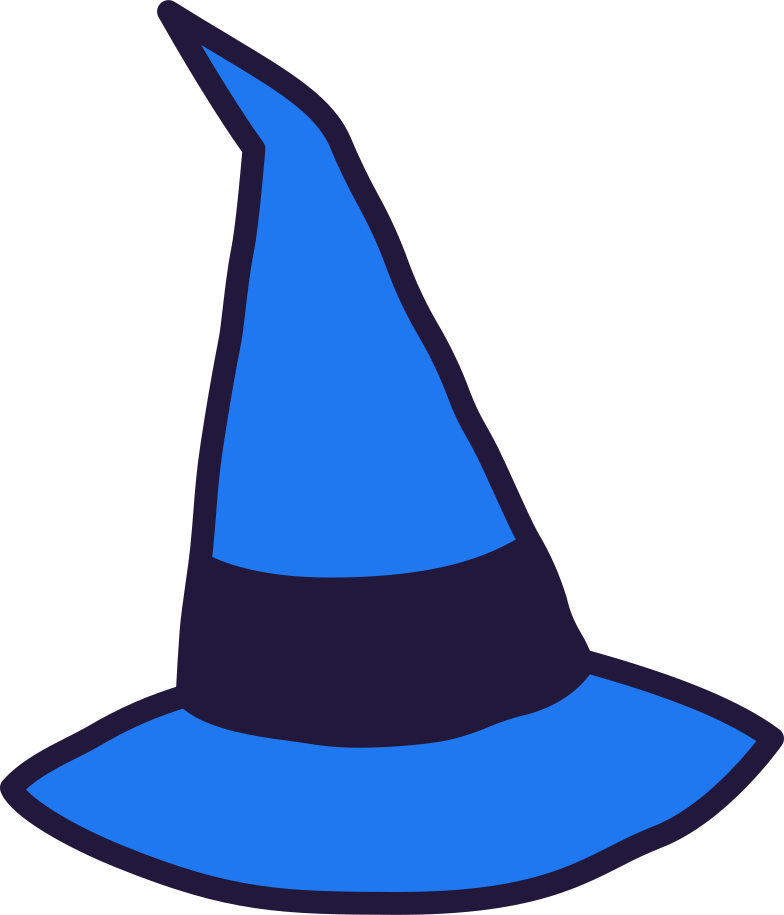 witches-hat- Clipart illustration in PNG, SVG
