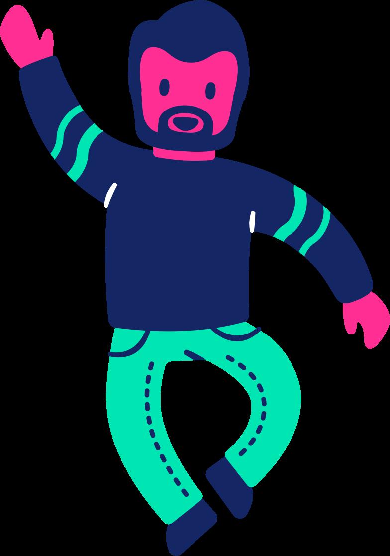 man dancing Clipart illustration in PNG, SVG