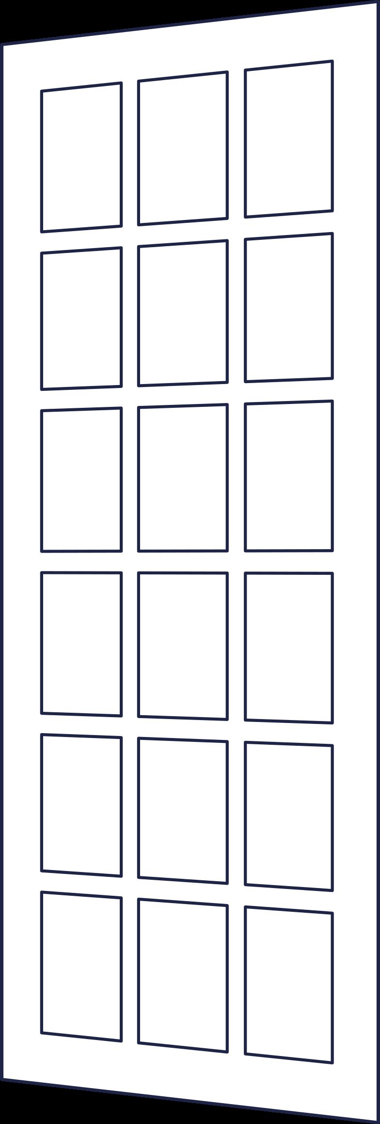door 2 line Clipart illustration in PNG, SVG