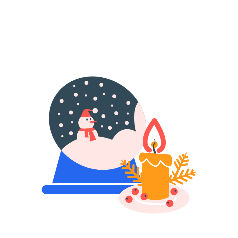 Christmas set up Clipart illustration in PNG, SVG
