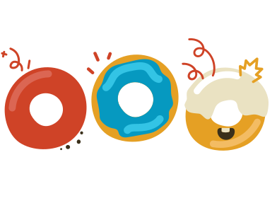 style Cute donuts images in PNG and SVG | Icons8 Illustrations
