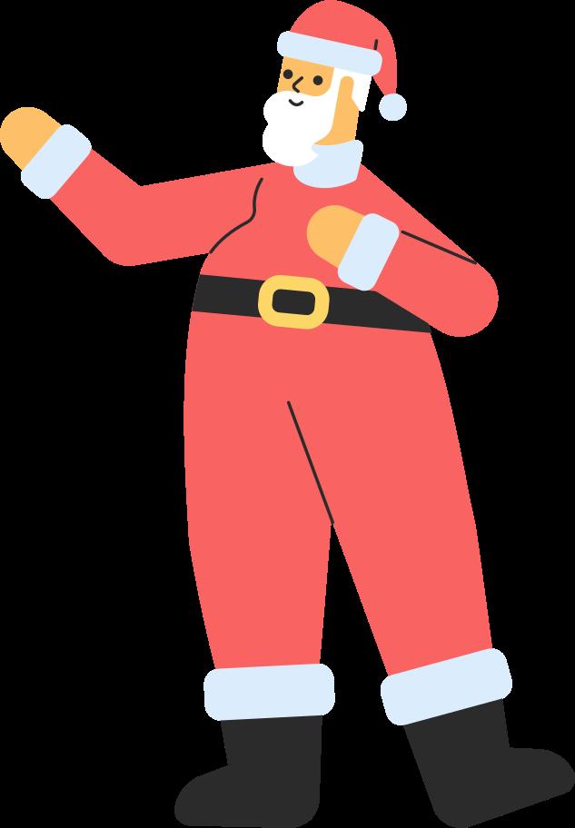 santa standing Clipart illustration in PNG, SVG