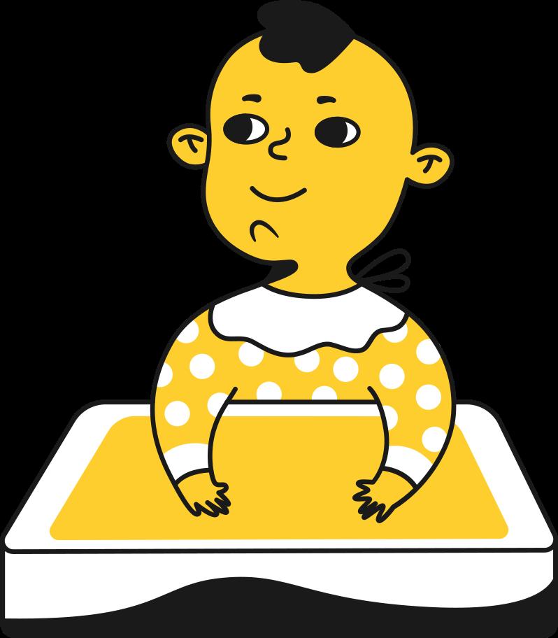 kid child Clipart illustration in PNG, SVG