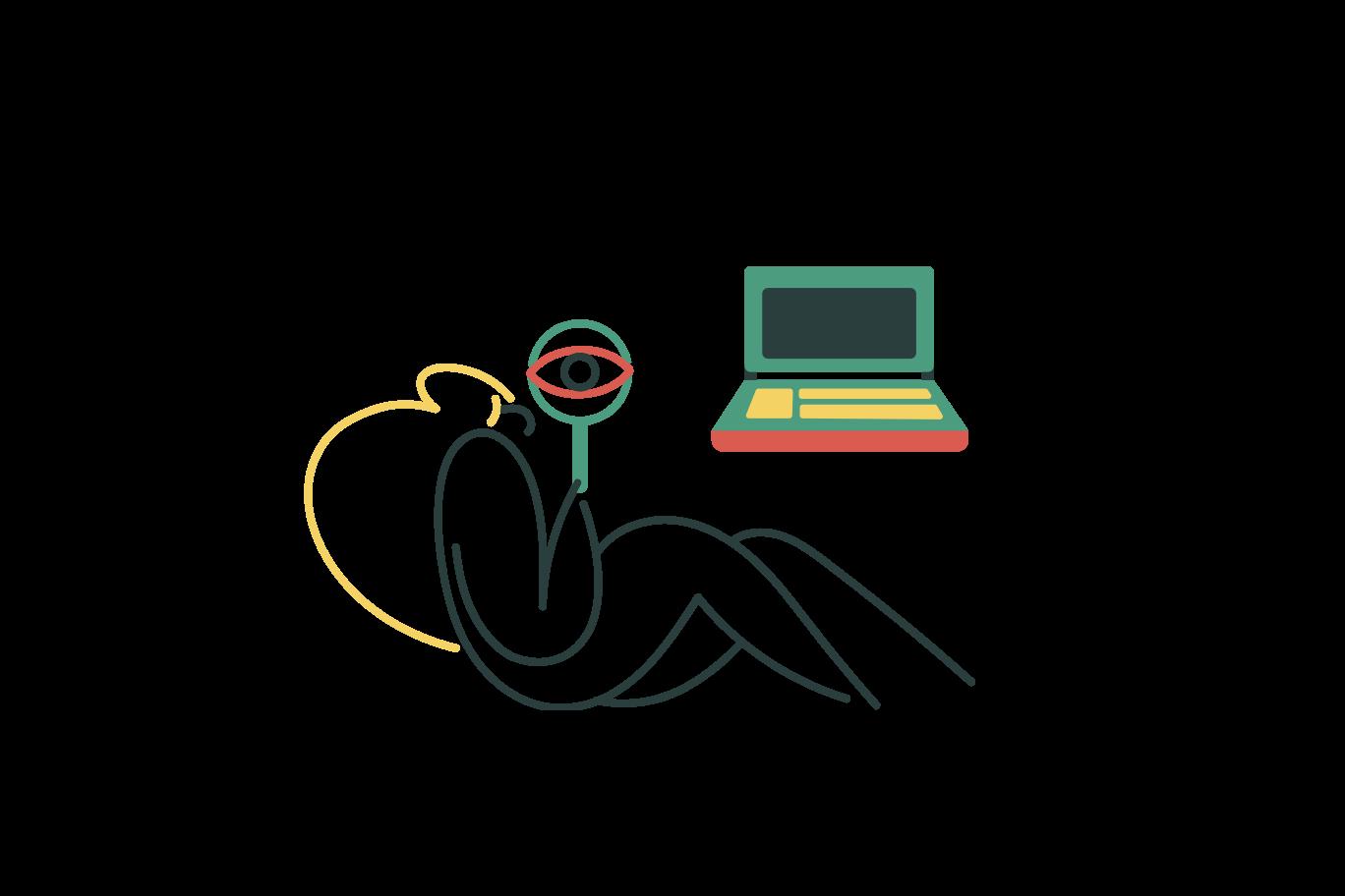 Ilustración de clipart de Búsqueda web en PNG, SVG