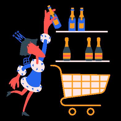 Иллюстрация Сбор напитков в стиле  в PNG и SVG | Icons8 Иллюстрации