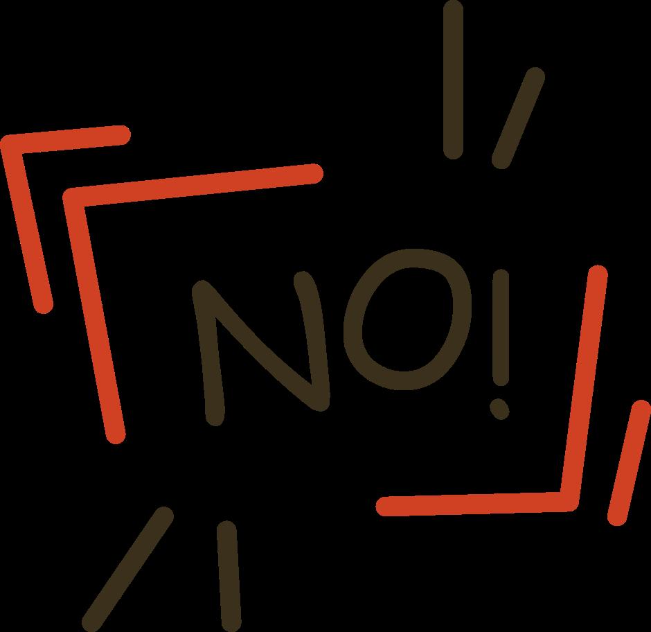 Nein Clipart-Grafik als PNG, SVG