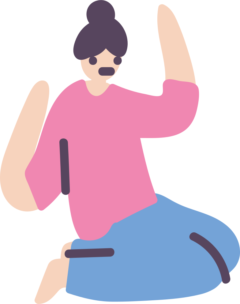 seated woman Clipart illustration in PNG, SVG
