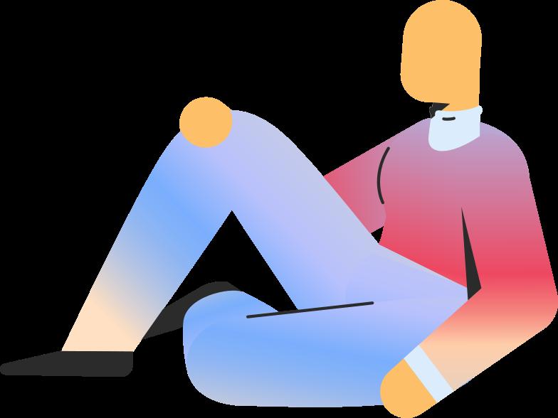 adult sitting Clipart illustration in PNG, SVG