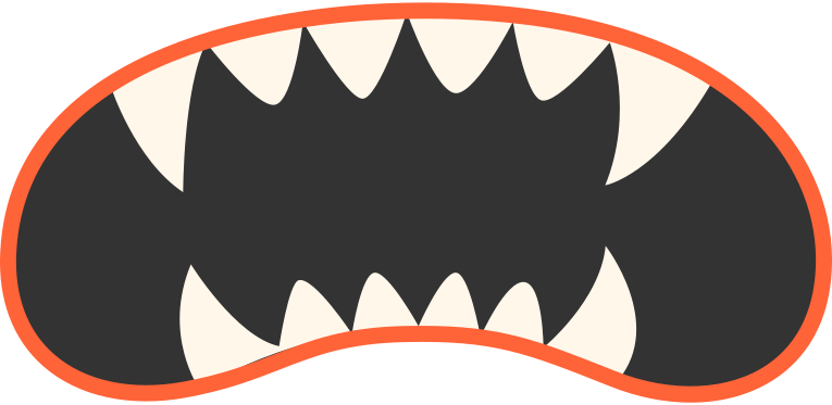 mouth vampire Clipart illustration in PNG, SVG