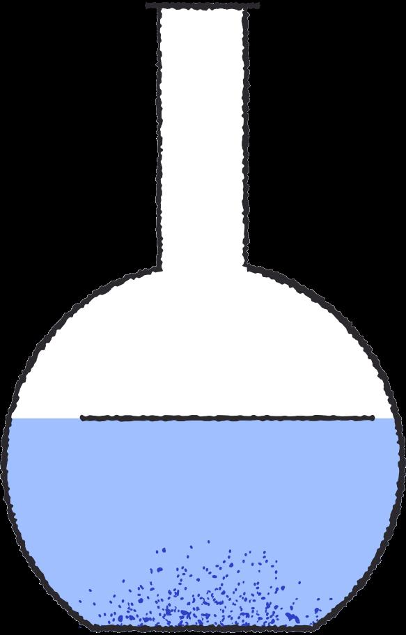 Ilustración de clipart de Tubo de ensayo azul en PNG, SVG