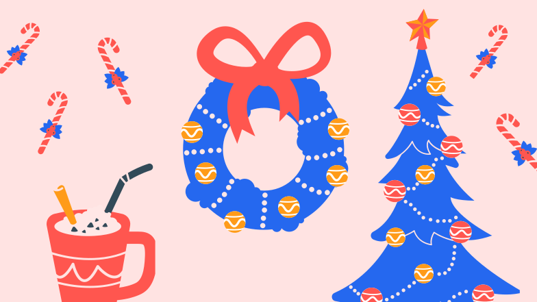 Christmas celebration Clipart illustration in PNG, SVG