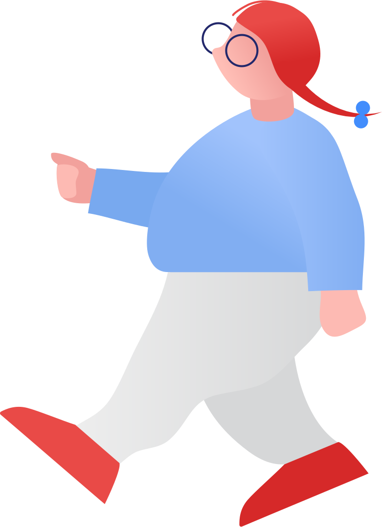 fat girl walking Clipart illustration in PNG, SVG