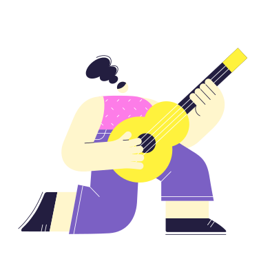 style Guitar player images in PNG and SVG | Icons8 Illustrations