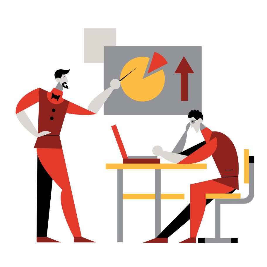 The financial analysis Clipart illustration in PNG, SVG