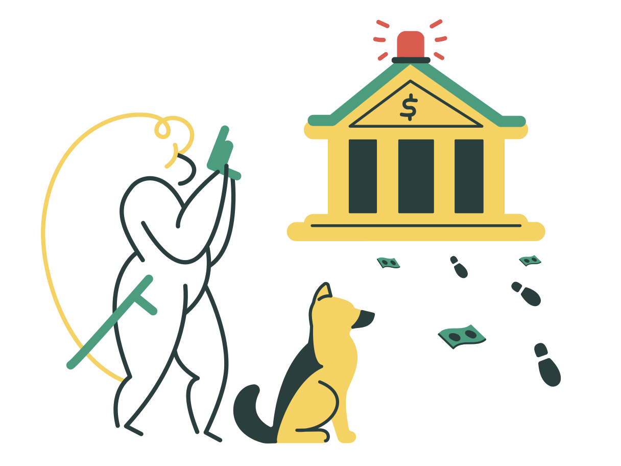 Bank robbery Clipart illustration in PNG, SVG