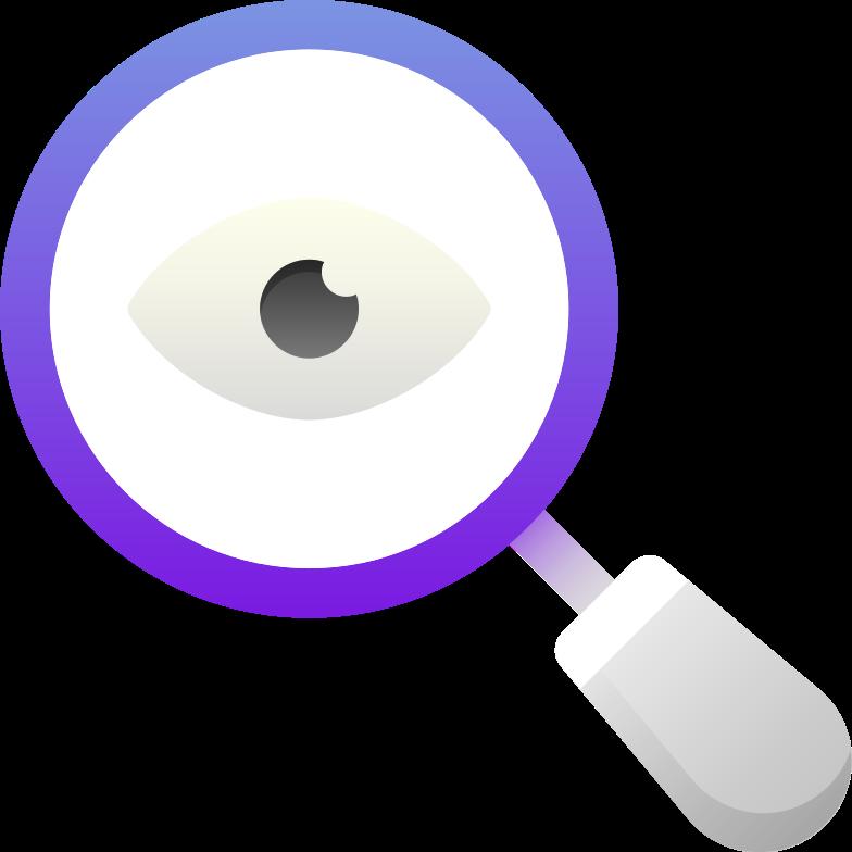 magnifier Clipart illustration in PNG, SVG