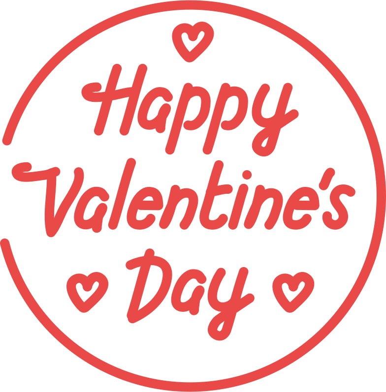 happy valentine Clipart illustration in PNG, SVG
