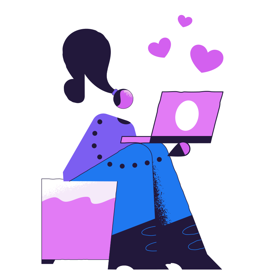 Virtual love Clipart illustration in PNG, SVG