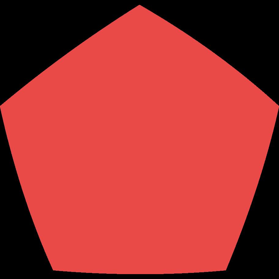 pentagon red Clipart illustration in PNG, SVG