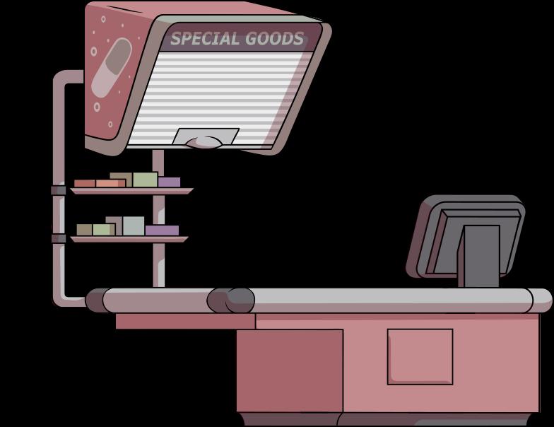 store cash desk Clipart illustration in PNG, SVG