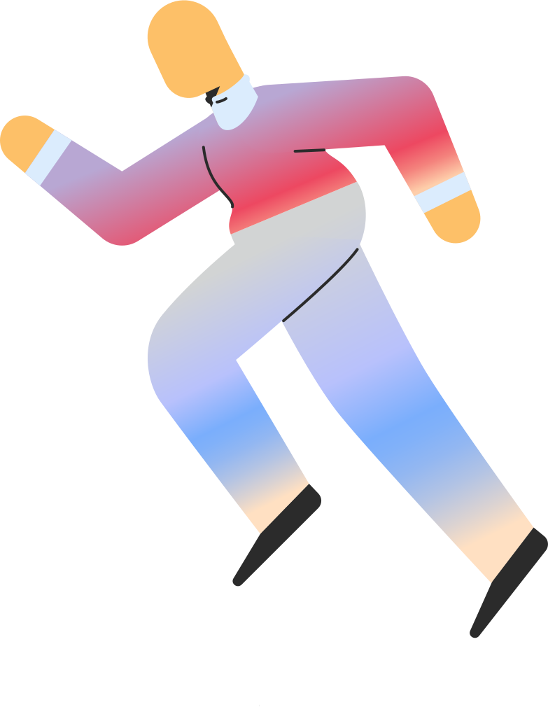 adult running Clipart illustration in PNG, SVG