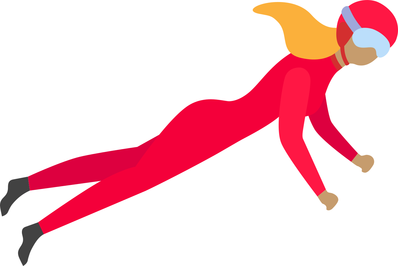 flying woman Clipart illustration in PNG, SVG