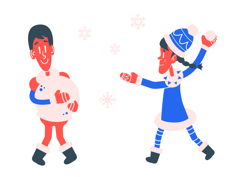 style Snowball fight Vector images in PNG and SVG | Icons8 Illustrations