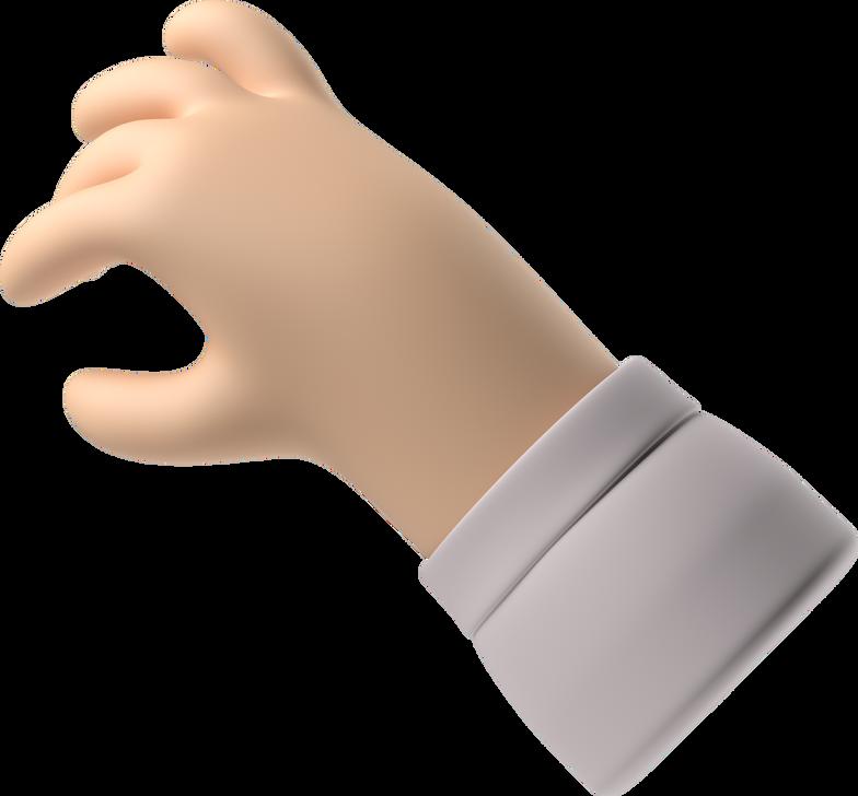 Ilustración de clipart de mano toma en PNG, SVG