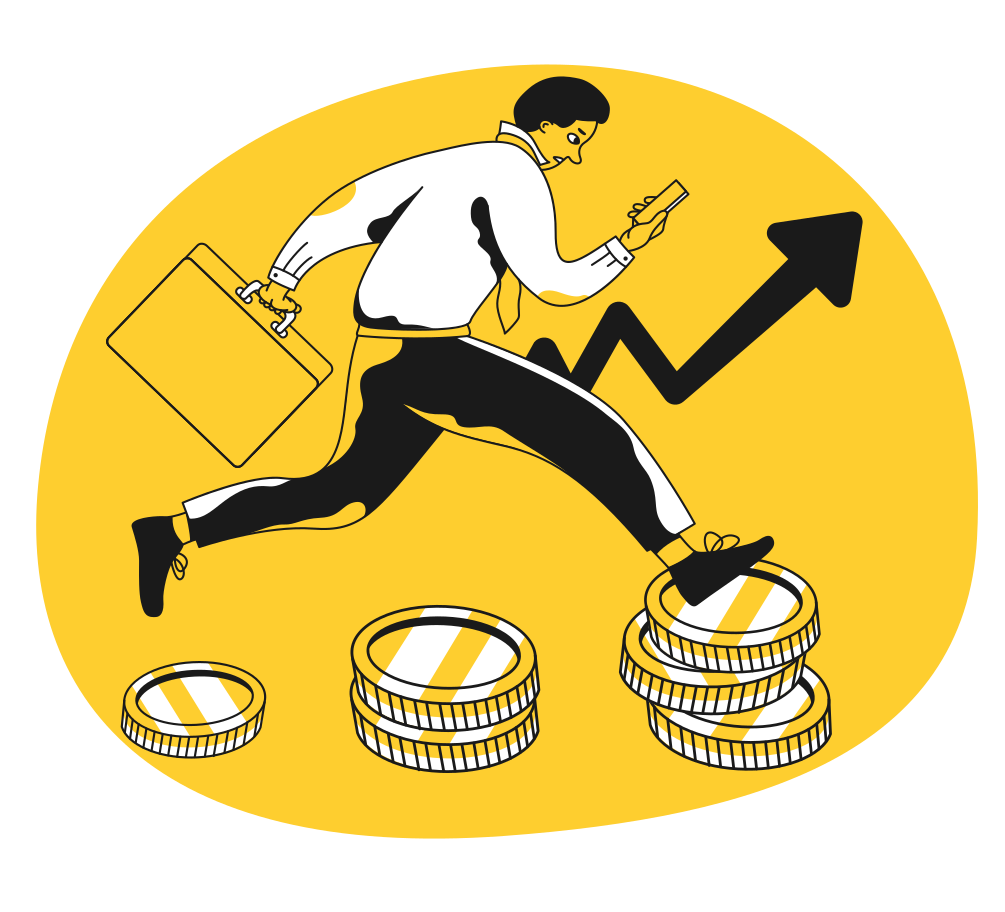 Business growth Clipart illustration in PNG, SVG
