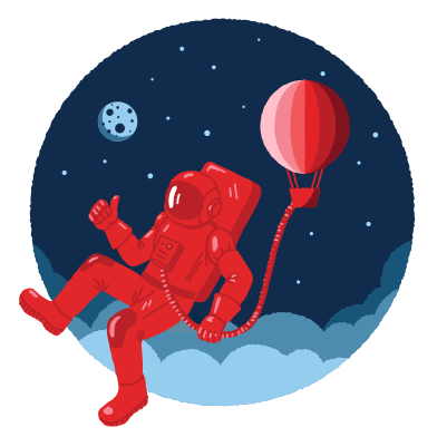 style Unusual space traveller images in PNG and SVG | Icons8 Illustrations