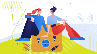 style Picnic with loved one images in PNG and SVG | Icons8 Illustrations