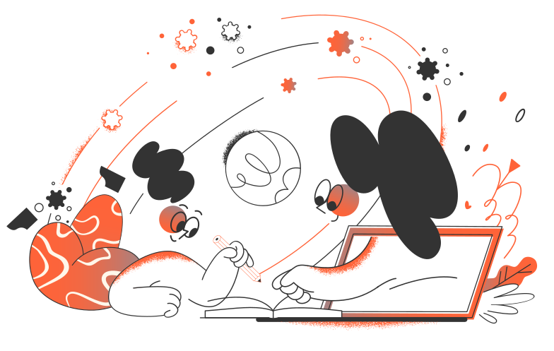 Online education Clipart illustration in PNG, SVG