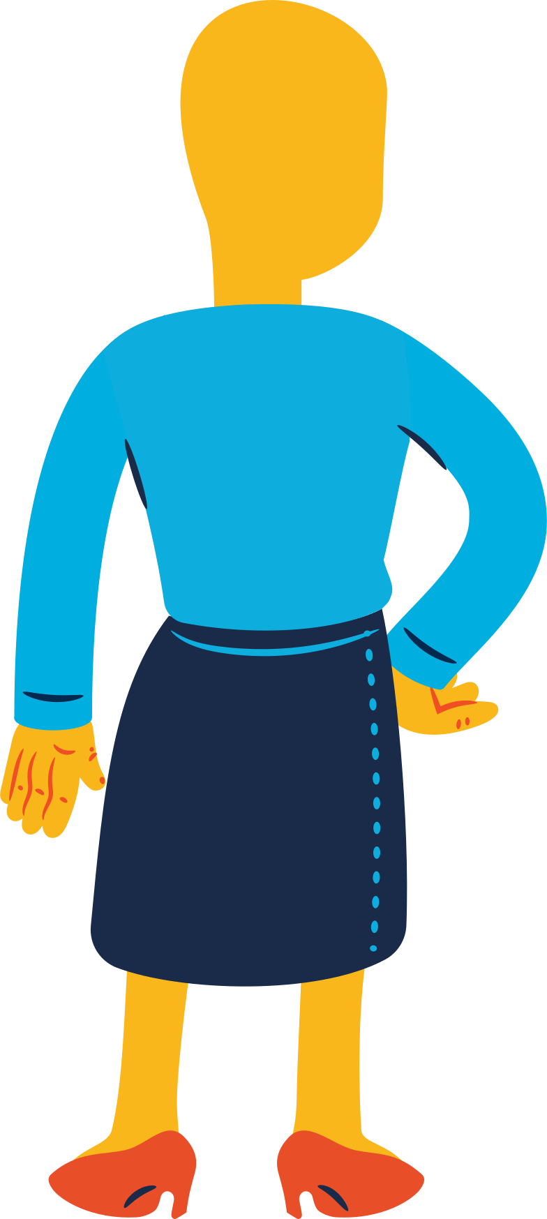 style woman standing back Vector images in PNG and SVG | Icons8 Illustrations