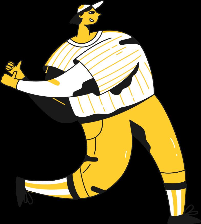 Vektorgrafik im  Stil baseball spielt mit leeren händen als PNG und SVG | Icons8 Grafiken