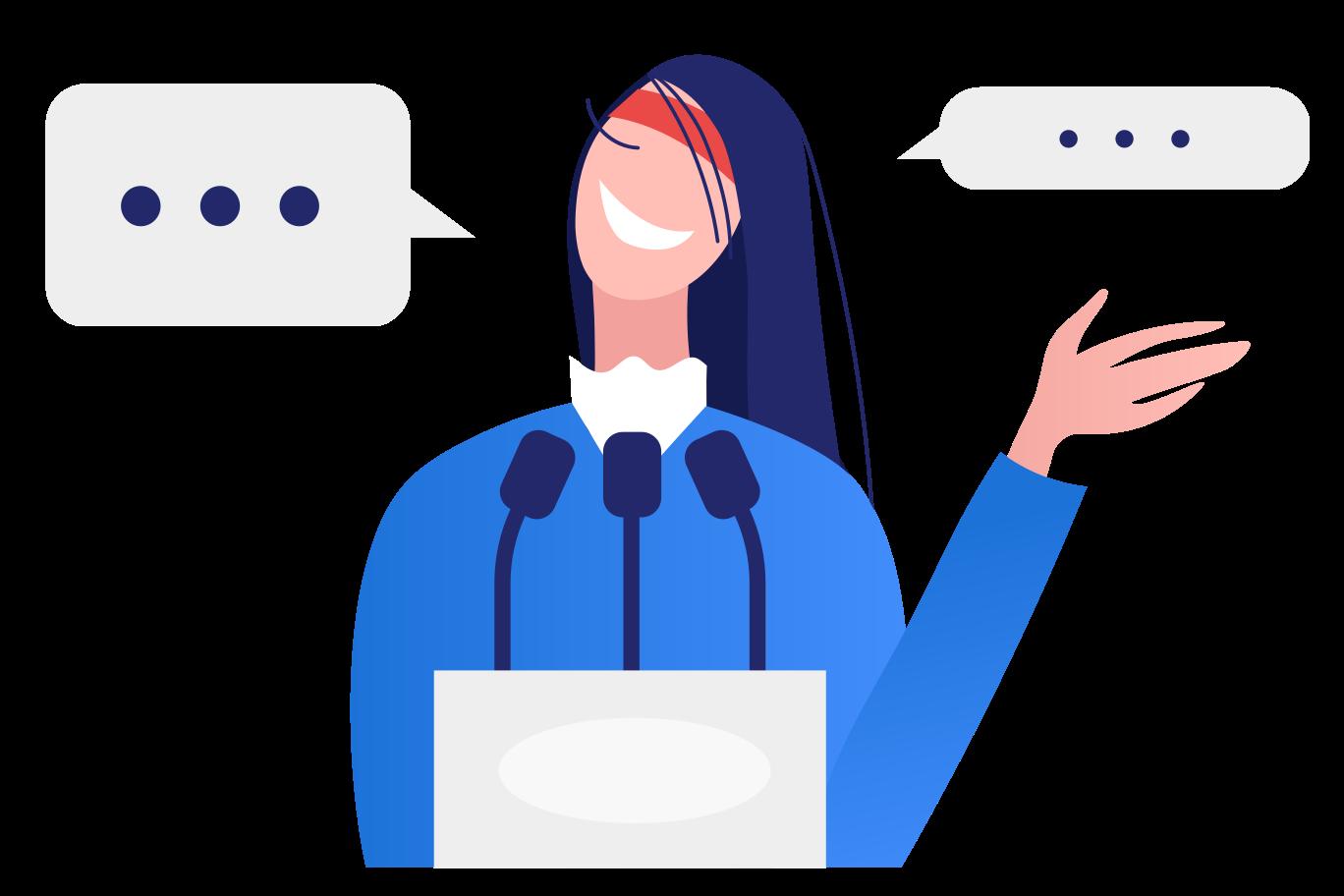 Public speech Clipart illustration in PNG, SVG