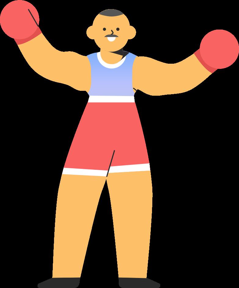 boxer Clipart illustration in PNG, SVG