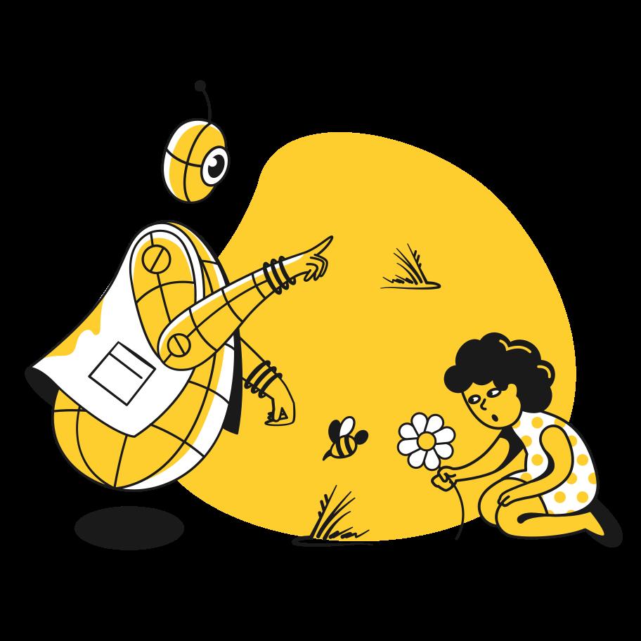 Robot nanny Clipart illustration in PNG, SVG