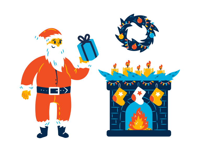 style Santa is here Vector images in PNG and SVG | Icons8 Illustrations