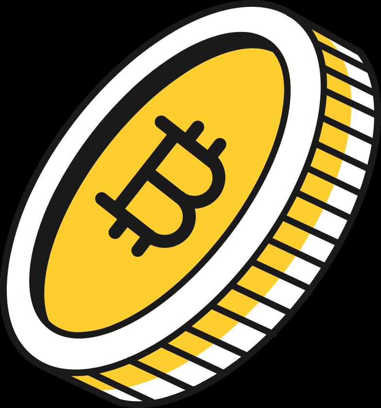 bit coin Clipart illustration in PNG, SVG