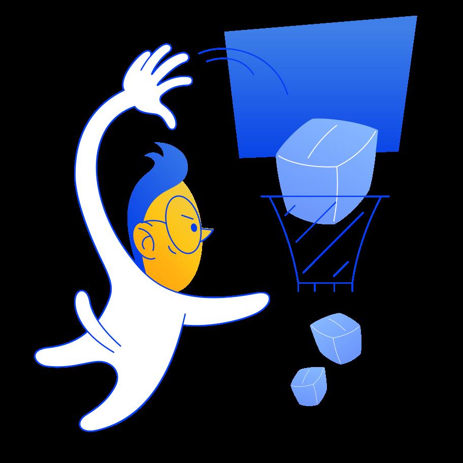 Basketballing of boxes Clipart illustration in PNG, SVG