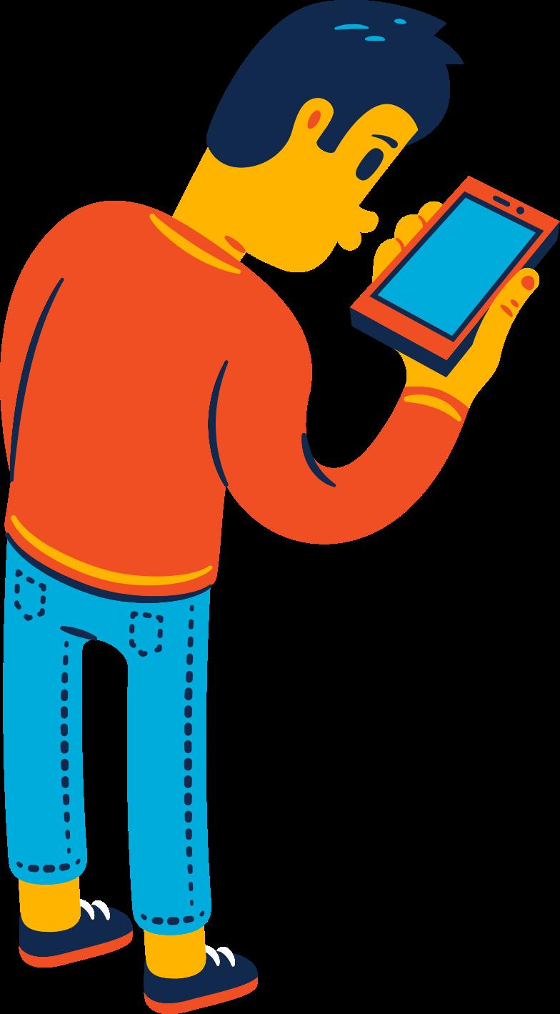 Иллюстрация msn смотрит на телефон в стиле  в PNG и SVG | Icons8 Иллюстрации