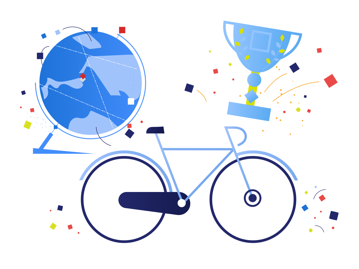 World bike racing Clipart illustration in PNG, SVG