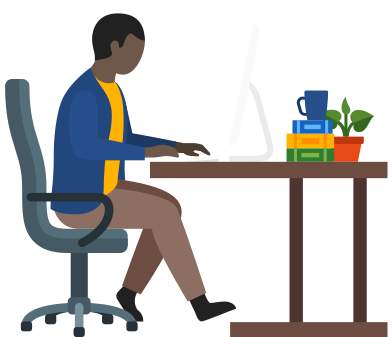 style man office worker using computer images in PNG and SVG | Icons8 Illustrations